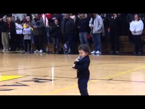 2-Year-Old Singing the National Anthem Is Probably the Cutest Performance of This Great Song. Ever.